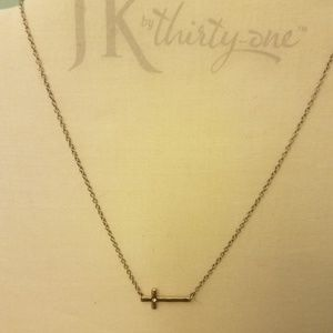 Whisper Cross Necklace-JK by Thirty One